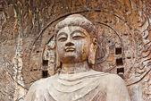 Szczegół z wielkim vairocana longmen grottoes Buddy — Zdjęcie stockowe