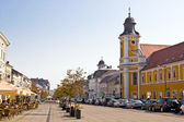 One of large commercial street in Cluj-Napoca. Romania. — Stock Photo