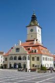 Brasov rady náměstí (piata sfatului). centrum města brasov, rumunsko — Stock fotografie