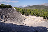 Ancient theatre in Sanctuary of Asklepios at Epidaurus, Greece — Stock Photo