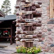 Directions to the world, Arctic Circle Line. Rovaniemi, Finland — Stock Photo #8981495