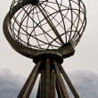 North Cape Globe Monument. Norway. — Stok fotoğraf