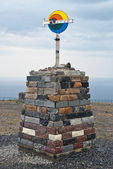 North Cape sign. Norway. — Foto de Stock