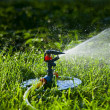 Watering the lawn — Foto de Stock