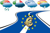 Euro debt crisis — Stock Vector