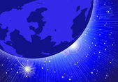 Night Sky Planet — Stock Vector