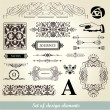 Vintage elements - antique - vector - Stock Vector