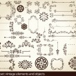 Vintage elements - antique - vector — Stock Vector