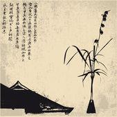 Zen, hintergrund, vektor — Stockvektor