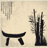 Zen, silueta, símbolos — Vector de stock