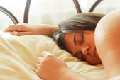 Sleeping brunette — Stock Photo