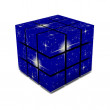 The cube,the stars — Stock Photo