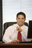 Hispanic Business Man in The Office — Stock Photo