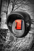 Red phone — Stock Photo