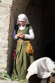 Medieval woman — Stock Photo