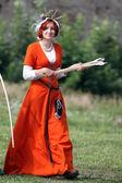 Medieval women — Stock Photo