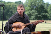 Renaissance musician — Stock Photo