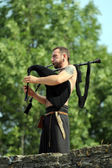 Medieval musician — Stock Photo