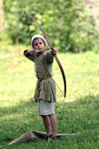 Medieval archer boy — Stock Photo