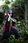 Forest witch — Stock Photo
