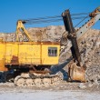 Old excavator at  open pit — Stock Photo