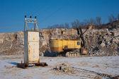Excavator and transformer vault — Stock Photo