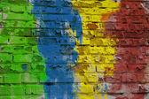Multi Colored Wall — Stock Photo