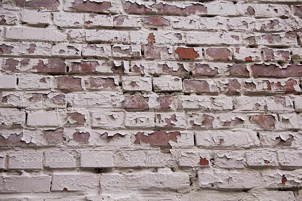 Cracks on Brick Wall. Grungy look — Stock Photo #9031994