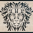 Decorative Lion/with ornate flourishes and swirls — Vecteur #8372946