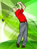 Golfer Swing — Stock Vector