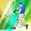 Baseball batter illustration — Stock Vector
