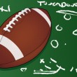 Highly detailed vector football Layout — Stock Vector