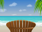 Adirondack Beach Chair — Stock Vector