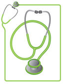Stethoscope icon and border — Stock Vector