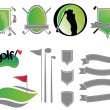 Golf Icons, Elements, Badges, and Symbols — Stock Vector