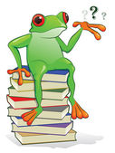 Book Frog — Stockvektor