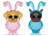 Easter Dogs — Stock Vector