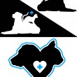 Dog and Cat Silhouette Design Elements — Stock Vector #9413519