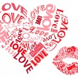 Royalty-Free Stock Vector Image: LOVE/Hearts and Kisses