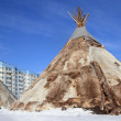 Dwelling of northern peoples of Siberia - Photo