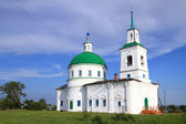 Church in village in the summer. Siberia, Russia — Stock Photo