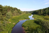 The river of Big Salym — Stock Photo
