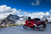 Motorbikes on mountain. — Stock Photo