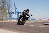 Motorcycle riding. — Стоковое фото