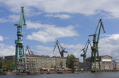 Shipyard of Gdansk. Poland. — Stock Photo