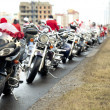 Постер, плакат: Motorcycles of Santa Claus