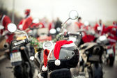 Motorcycles of Santa Claus — Stock Photo