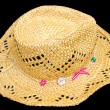 Antique panamanian straw hat — Stock Photo
