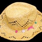 Antique panamanian straw hat — Stock Photo