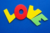Love, colored letters — Stock Photo